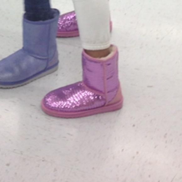 UGG Shoes | Kids Pink Sequin Uggs